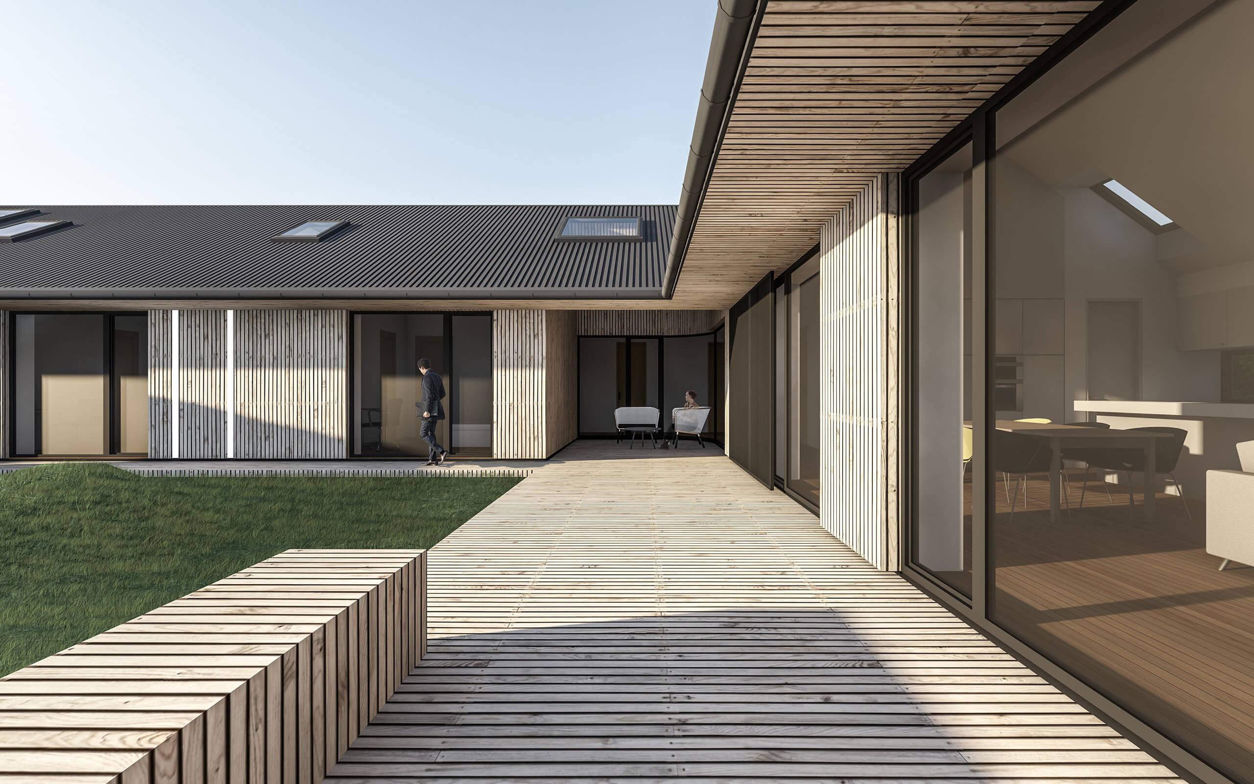 Scandinavian house for Modern house siding solutions